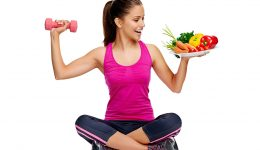 healthy eating and exercise for weightloss diet concept